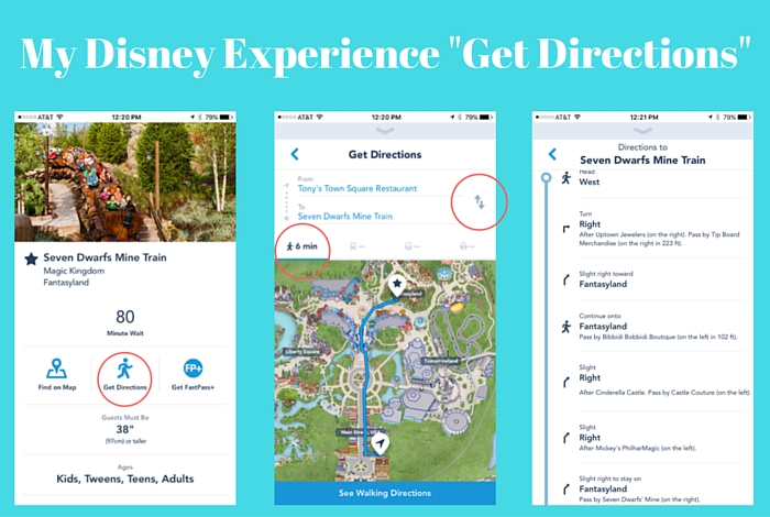 my disney experience get directions