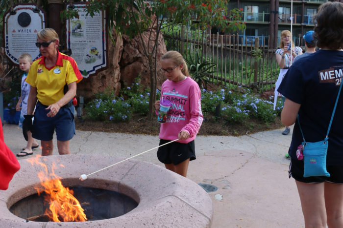 animal kingdom lodge marshmallow roasting