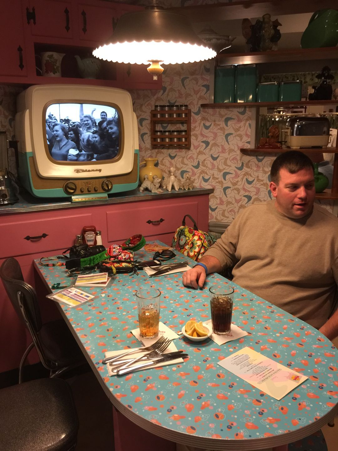 man at table at 50s prime time