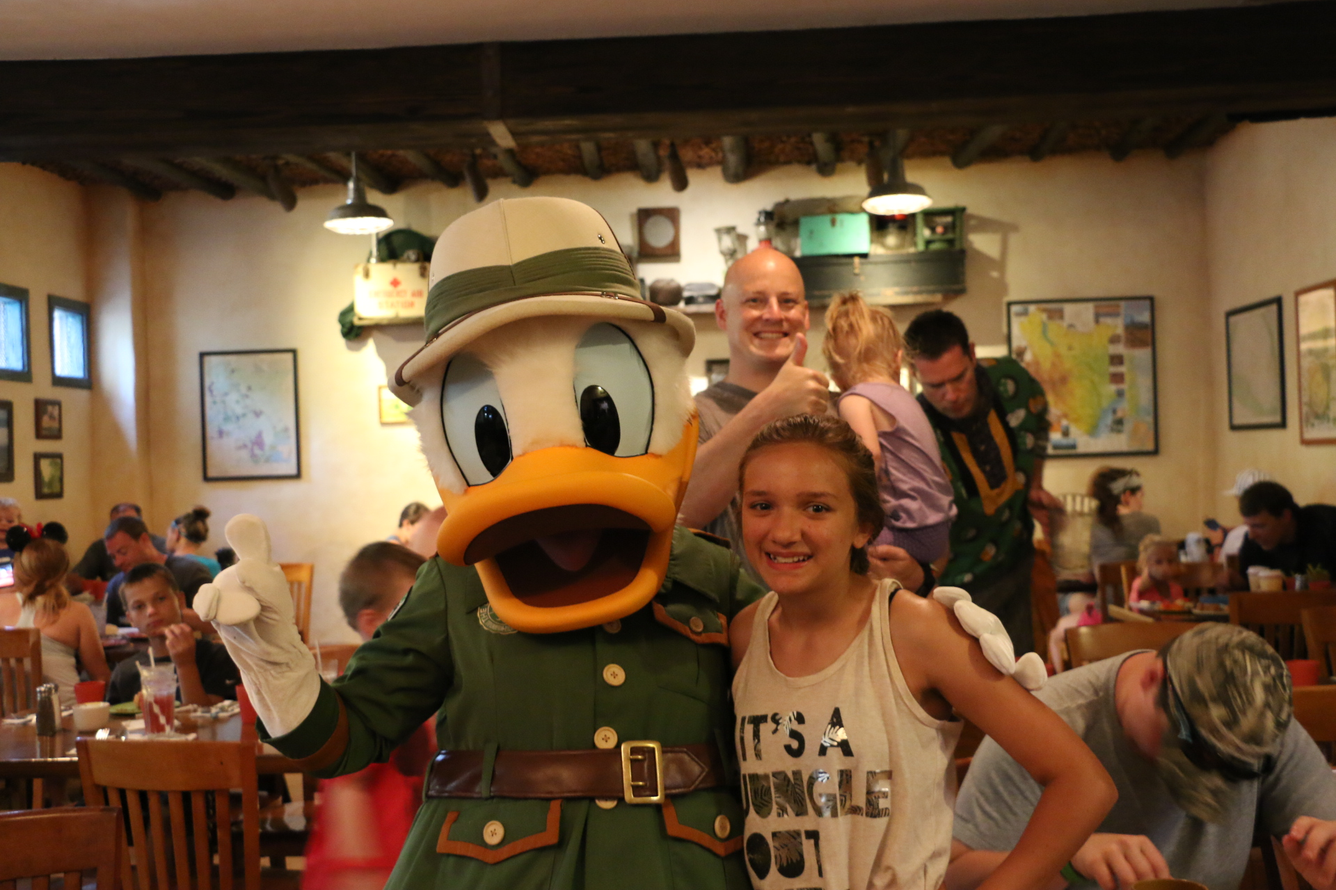 gracie and donald at tusker house