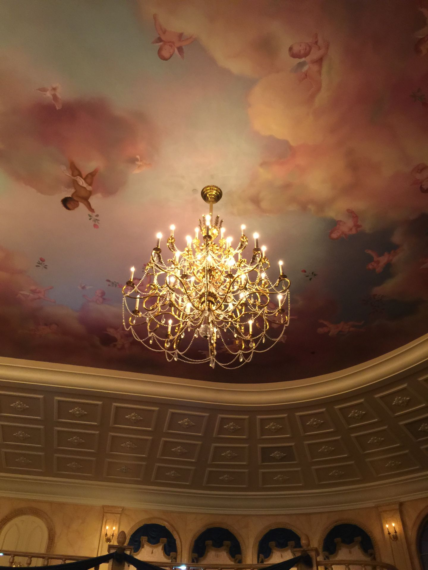 ceiling in ballroom at be our guest